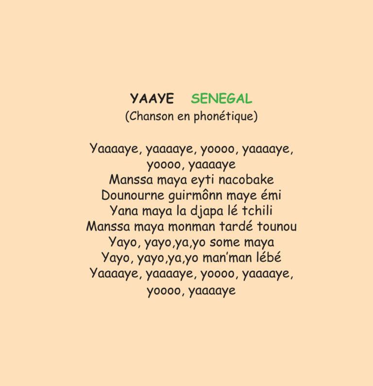 Yaaye - Chanson du Sénégal