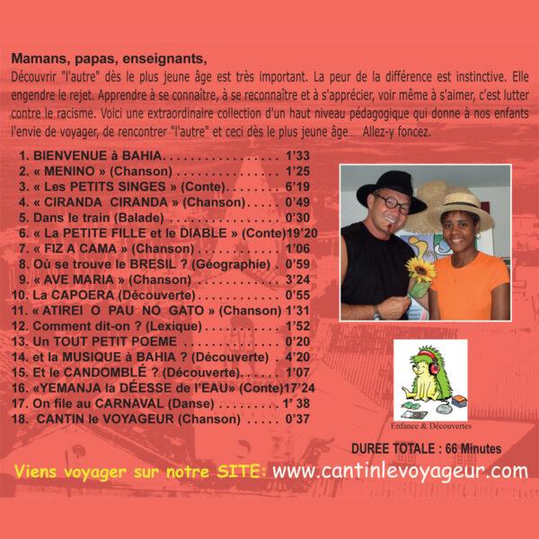 Titres de l'album Voyages et Rencontres au Brésil