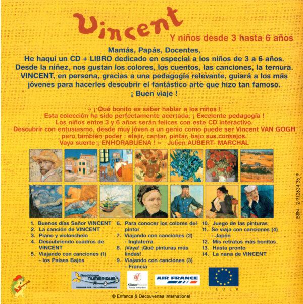 """""""VINCENT ET LES 3/6 ANS"""" - liste des titres (version espagnole)"""