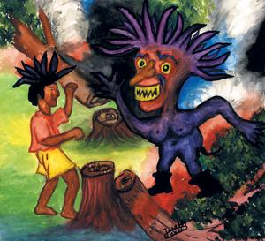 Yondeline et le Diable (Conte d'Haïti)